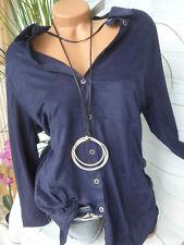 Ciso Blouse Cardigan Shirt Jacket Size 40/42 - 52/54 Blue New (235)