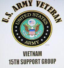 VIETNAM: U.S. ARMY VETERAN EMBLEM* NAME DROP U.S. MILITARY UNIT SHIRT LIST # 2