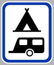 ZONE TENTE ET CARAVANE CAMPING AUTOCOLLANT STICKER CAM209