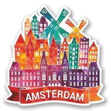 2 x Amsterdam Vinyl Sticker Laptop Travel Luggage Car #5783