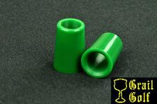 "NEW SUPER PREMIUM GREEN GOLF FERRULES .370 COLORED .79"" LENGTH IRON .540OD LOT"