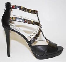 Women's Shoes Michael Kors CHANTALLE OPEN TOE Platform Sandal Heels Black Studs