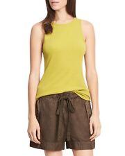 New Vince Cactus Green Ribbed Sleeveless High Neck Tank Top Shirt S M L