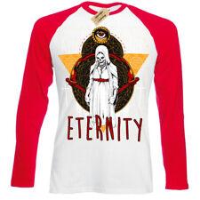 For Eternity T-Shirt demon nun evil priest Mens Baseball T-Shirt