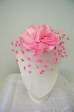 NEW Hair Clip fascinators Melbourne Cup Spring Races wedding fascinator pink