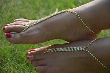 Beach Wedding Ankle Bracelet S/M/L #1 1 Pair 2pcs Barefoot Sandals Foot Jewelry