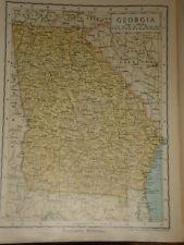 1929 ENCYCLOPEDIA BRITANNICA MAP GEORGIA USA