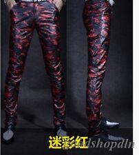 2019 Men's Leather Skinny Nightclub Motorcycle  Pants Trousers Sports Newgd777