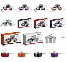 Sq Professional Gems Range Saucepan Set 16cm 18cm 20cm, Available in 5 Colours