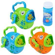 AVVOLGIMENTO A MANO MANUALE Bambini Pesce Bubble Maker Macchina per soffiaggio giocattolo da giardino