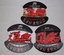 Head Mask Multi Wear Tube Bandana For Outdoor Scarf Welsh Dragon Wales / Cymru