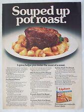 1979 Magazine Advertisement Page Lipton Recipe & Soup Mix Pot Roast Vintage Ad