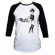 SKA GIRL RAGLAN T SHIRT Two-Tone Regae 3/4 Sleeve Music Graphic Retro  Tee