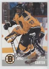 1999-00 In the Game Be A Player Memorabilia Silver 26 Anson Carter Boston Bruins