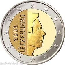 2 euros a partir de Luxemburgo 2002 años todos-UNC libre elegibles