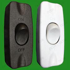 In-Line 2 A on/off Single Pole Rocker Noir/Blanc Switch 2 Core Câble Lumière Lampes