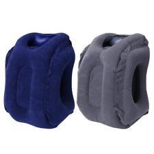 PVC Inflatable Sleeping Pillow Plane Car Soft Cushion Portable Neck Pillow #Cu3
