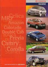 Toyota 1997-98 UK Brochure Starlet Corolla MR2 Carina Camry Celica RAV4 Hilux