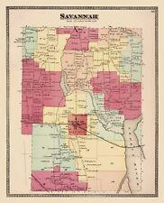 Old City Map - Savannah New York Landowner - Beers 1874 - 23 x 28.36
