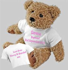 baptême cérémonie de personnalisé ours en peluche Option cadeau sac