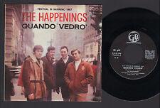 """7"""" HAPPENINGS QUANDO VEDRO' / ARIA DI SETTEMBRE ITALY SANREMO FESTIVAL 67 LAUZI"""