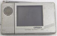 Vintage CITIZEN B&W LCD TV 06TA-0A ++FREE SHIP!
