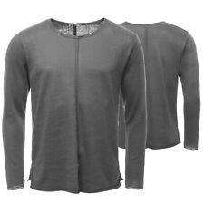 LTB Sweatshirt Herren Pullover Basic Freizeitpullover Used Look Grau