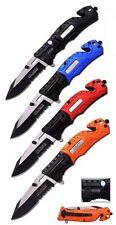 MC LED Licht federunterstütztes Klappmesser Messer Taschenmesser Einhandmesser