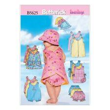 Butterick Sewing Pattern 5625 bebés mameluco pantalones y sombrero de puente