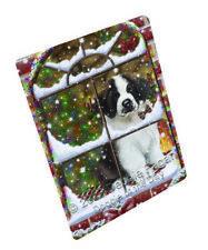 Please Come Home For 00006000  Christmas Saint Bernard Dog Woven Throw Sherpa Blanket T142