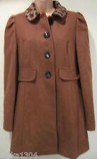 Debenhams RedHerring beige laine mélangée Manteau plus moderne (nouveau) taille 10 - £ 69.00