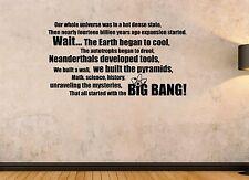 Big Bang Theory paroles Vinyle Mur Art Autocollant Decal