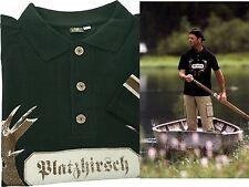 """Poloshirt  + Druck """"Platzhirsch"""" Shirt Hemd OS TRACHTEN grün"""