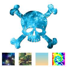 Skull Crossbones Pirate - Decal Sticker - Multiple Patterns & Sizes - ebn991