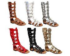 atta-07 Fashion Sandals Zipper Buckle Flats Gladiator Party Beach Women's Shoes