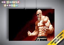 Large turtle poster goku master muscle Dragon ball wall art