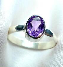 Amethyst Ring 925 Sterling Silber fac. Edelstein filigran Gr. 50 - 71 neu