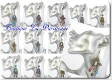 XL Ohrringe Ohrhänger Paris Ohrschmuck Trachtenschmuck Chandelier Ornamente Bunt