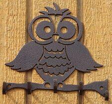 Owl Key Holder Metal Wall Art Home Decor