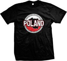 Polish Flag Map Outline Poland Polski Rzeczpospolita Polska Mens T-shirt