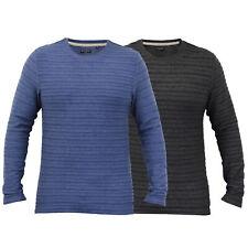 mens long sleeved jersey top Brave Soul t shirt plain crew neck ribbed summer