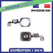 BOUTON HOME + NAPPE POUR IPHONE 6S / 6S PLUS BLANC ARGENT