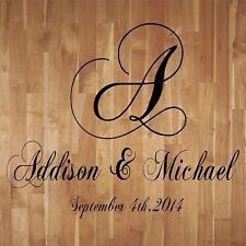 Wedding Monogram Dance Floor Decal Reception Vinyl Wall Decal Lettering Decor