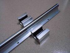 1 Set SBR16-750mm 16mm  LINEAR RAIL SUPPORT & 2 Pcs SBR16UU BLCOK BEARING