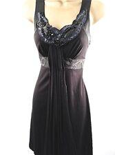 New Karen Millen Beaded Jersey Draped Dress Black Blue BNWT UK Size 8 10 36 38
