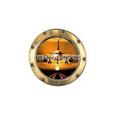 Sticker trompe l'oeil déco Avion réf:hublot H352