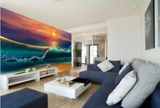 Papel Pintado Mural Vellón Pintura De Playa Atardecer 23 Paisaje Fondo Pantalla