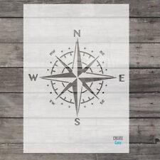 Plantilla de navegación brújula Stencil Windrose Shabby Chic Pared Arte Artesanía náutica