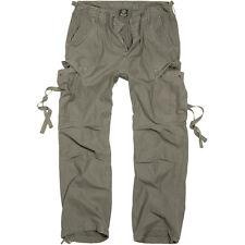 Brandit Vintage Hombres M-65 Trabajo Pantalones Cargo Combates Senderismo Casual
