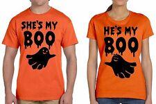 Halloween Couple Orange Shirts Boo Halloween Tee Shirt Orange Tee Shirt Tees